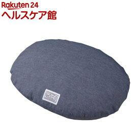 ハチ 接触冷感クッションカバー デニム調 オーバル M(1枚入)【ハチ(hachi)】