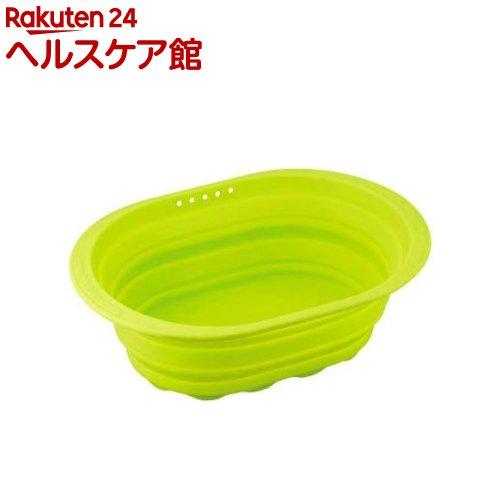 スキッとシリコーン 小判型洗い桶 グリーン SR-4882(1コ入)【スキッとシリコーン】【送料無料】