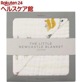 NEWCASTLE CLASSICS コットンリトルブランケット ForestFriends & Grey Stripe(1枚)【ニューキャッスルクラシックス】