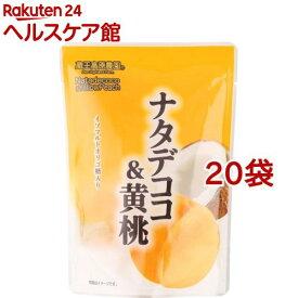 蔵王高原農園 ナタデココ&黄桃(180g*20袋セット)【蔵王高原農園】
