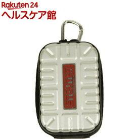 SK11 アルミツールポーチ シングルポケット SAT-1SL シルバー(1コ入)【SK11】