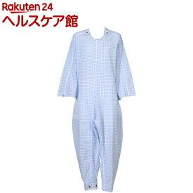 フドー ねまき 5型 スリーシーズン 水色格子 L(1枚入)【フドー】