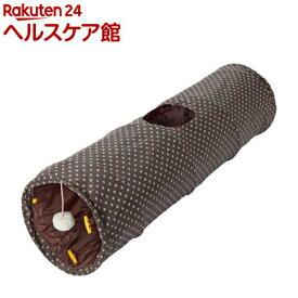 PuChiko シャカシャカロングトンネル ドット ブラウン(1コ入)【PuChiko】