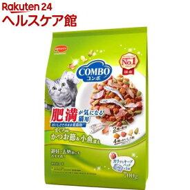 コンボ 肥満が気になる猫用 まぐろ味・かつお節・小魚添え(140g*5袋入)【more20】【コンボ(COMBO)】[キャットフード]