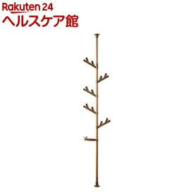 つっぱり式ポールハンガーあいツリー TPH2-WOOD(1台)