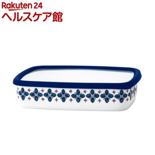 クッカ ホーロー浅型角容器 L ネイビー CU-L・N(1コ入)【クッカ(cukka)】