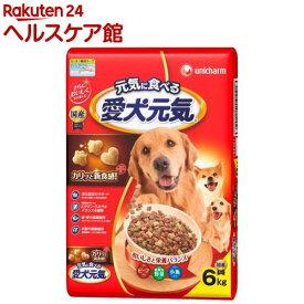 愛犬元気 全成長段階用 ビーフ・緑黄色野菜・小魚入り(6kg)【愛犬元気】[ドッグフード]