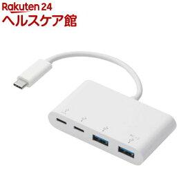 エレコム USBハブ 3.1 PD対応 typeCコネクタ 4ポート バスパワー U3HC-A424P10WH(1個入)【エレコム(ELECOM)】