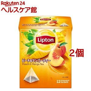 リプトン ピーチ&マンゴー ティーバッグ(12包*2コセット)【リプトン(Lipton)】