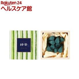 かゆらぎ 緑茶 コーン 香立付(12コ入)【かゆらぎ】