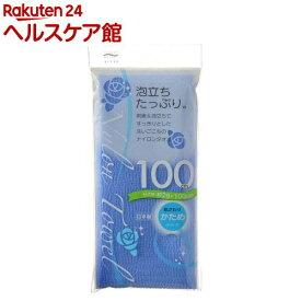 アイセン ナイロンタオル 100cm かため ブルー BHN02(1枚入)【アイセン工業】