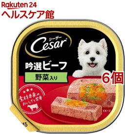 シーザー 吟選ビーフ 野菜入り(100g*6個セット)【シーザー(ドッグフード)(Cesar)】[ドッグフード]