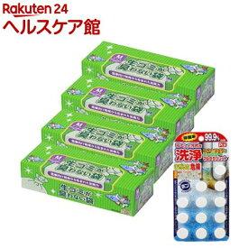 生ゴミが臭わない袋BOS(ボス) Mサイズ 汚れに洗浄タブレット12錠おまけ付(90枚*4箱入)【防臭袋BOS】