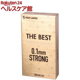 コンドーム/ザ・ベスト 0.1mmストロング(10コ入)【more20】[避妊具]