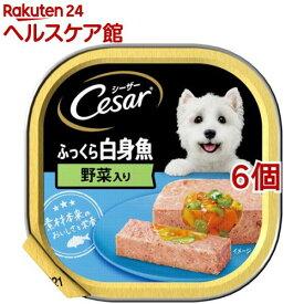 シーザー ふっくら白身魚 野菜入り(100g*6個セット)【シーザー(ドッグフード)(Cesar)】[ドッグフード]