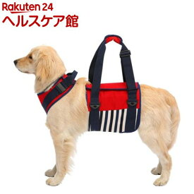 歩行補助ハーネスLaLaWalK 大型犬用 ナチュラルマリン L(1個)
