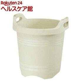 ハンドルプランター 丸35型 アイボリー(1コ入)【大和プラスチック】