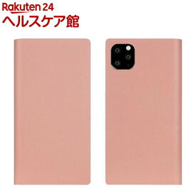 SLG Design iPhone 11 Pro Max Calf Skin Leather Diary ベビーピンク SD17960i65R(1個)【SLG Design(エスエルジーデザイン)】