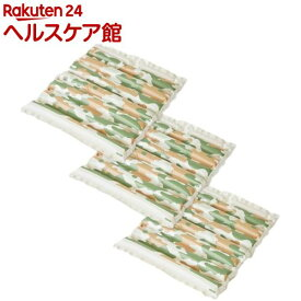 エアクッション ザブポン スタイル カモフラ柄 グリーン(3枚)【ザブポン】