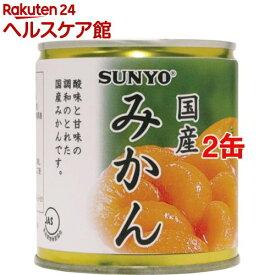 サンヨー 国産みかん EO5号(295g*2缶セット)【サンヨー堂】