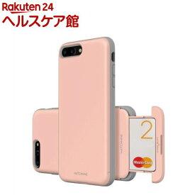 マッチナインiPhone8PLus/7PLus カードラスロットペールドグウッドピンクMN89161i7SP(1コ入)【MATCHNINE(マッチナイン)】