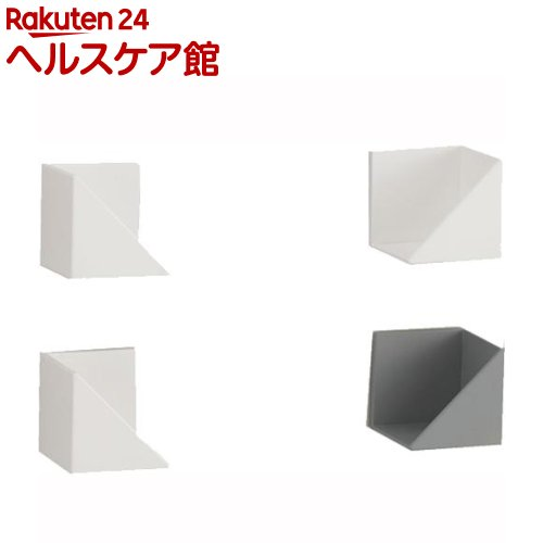 マグネット式 ラップ・ティッシュホルダー ホワイト(2セット)