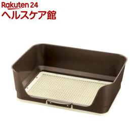 リッチェル しつけ用ステップ壁付きトイレ レギュラーダークブラウン(1台)