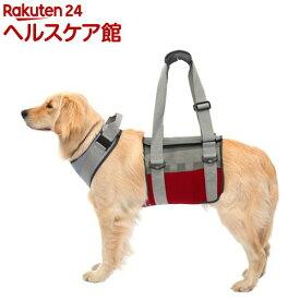 歩行補助ハーネスLaLaWalk 大型犬用 メッシュグレーワイン M(1個)