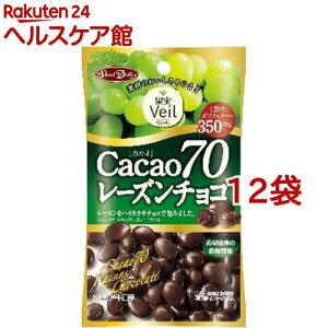 果実ヴェール カカオ70 レーズンチョコ(40g*12コセット)[チョコレート]