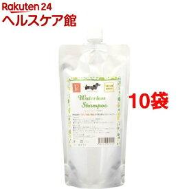PN ウォーターレスシャンプー フレッシュハーブの香り つめかえ用(400ml*10袋セット)【PN(ペットニーム)】
