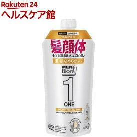メンズビオレ ONE オールインワン 髪肌なめらかタイプ つめかえ用(340ml)【メンズビオレ】