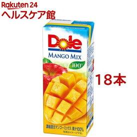 ドール マンゴーフルーツミックス100%(200ml*18本入)