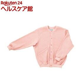 スクエアニット室内着(えりなし前開きタイプ) ピンク L 5100(1枚入)【エンゼル】