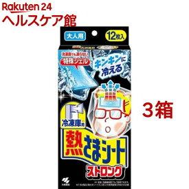 冷凍庫用 熱さまシート ストロング 大人用(12枚入*3箱セット)【熱さまシリーズ】