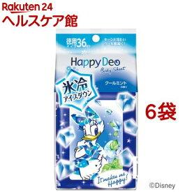 マンダム ハッピーデオ ボディシート アイスダウン クールミントの香り(36枚入*6袋セット)【ハッピーデオ】