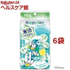 マンダム ハッピーデオ ボディシート アイスダウン フルーツクーラーの香り(36枚入*6袋セット)【ハッピーデオ】