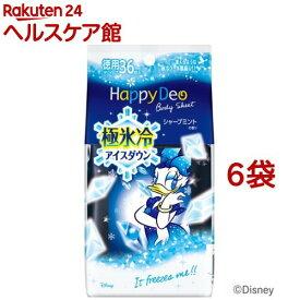 マンダム ハッピーデオ ボディシート 極氷冷アイスダウン シャープミントの香り(36枚入*6袋セット)【ハッピーデオ】