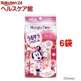 マンダム ハッピーデオ ボディシート うるサラ 花せっけんの香り(36枚入*6袋セット)【ハッピーデオ】