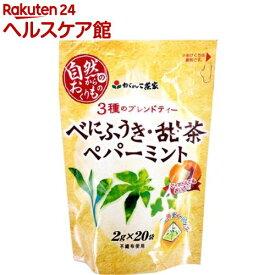 がんこ茶家 3種のブレンドティー べにふうき・甜茶・ペパーミント(2g*20袋入)【slide_b2】