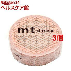 カモイ MT01D432 mt 1P 花菱・鉛丹(えんたん) 幅15mm*10m(3個セット)