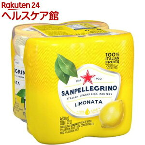 サンペレグリノ イタリアンスパークリングドリンク リモナータ(レモン)(330ml*4本入)【サンペレグリノ(s.pellegrino)】