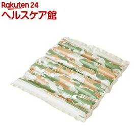 エアクッション ザブポン スタイル カモフラ柄 ケース販売 グリーン(40枚)【ザブポン】
