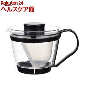 イワキ レンジのポット・茶器 ブラック K863-BK(1コ入)【イワキ(iwaki)】