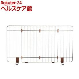 伸縮スタンド簡易ペットゲート 90-120 ブラウン(1コ入)【リッチェル(ペット)】
