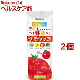 子どもと食べたい つぶ野菜入りケチャップ(295g*2個セット)【ナガノトマト】