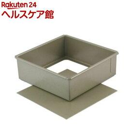 富士ホーロー ベイクウェアー 角型 デコレーション底取型 12cm 57299(1コ入)【フジホーロー】