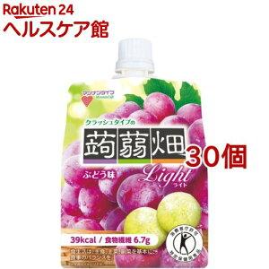 クラッシュタイプの蒟蒻畑ライト ぶどう味(150g*30コセット)【蒟蒻畑】