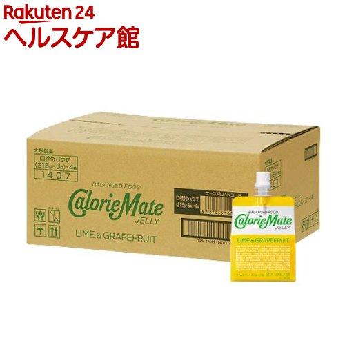 カロリーメイト ゼリー ライム&グレープフルーツ味(215g*6コ入*4セット)【カロリーメイト】