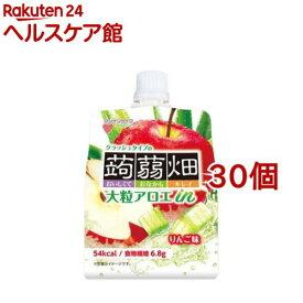 大粒アロエinクラッシュタイプの蒟蒻畑 りんご味(150g*30コセット)【蒟蒻畑】