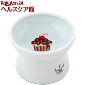 猫壱 ハッピーダイニング 脚付フードボウル カップケーキ シリコン付き(1個)【猫壱】
